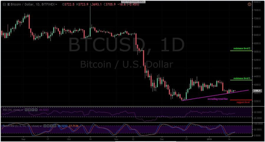 BTC/USD 1D Chart, Bitfinex