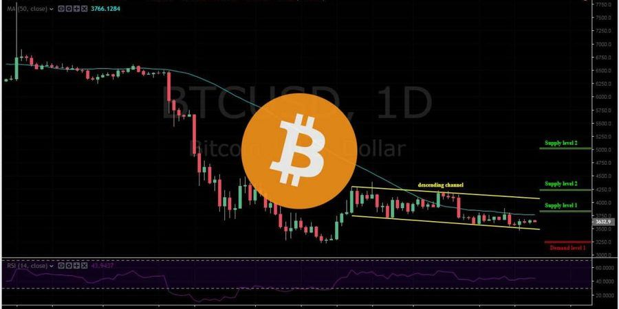 BTC-USD 1D - January 25 copy. Bears are in play