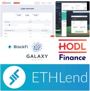 Crypto lenders.