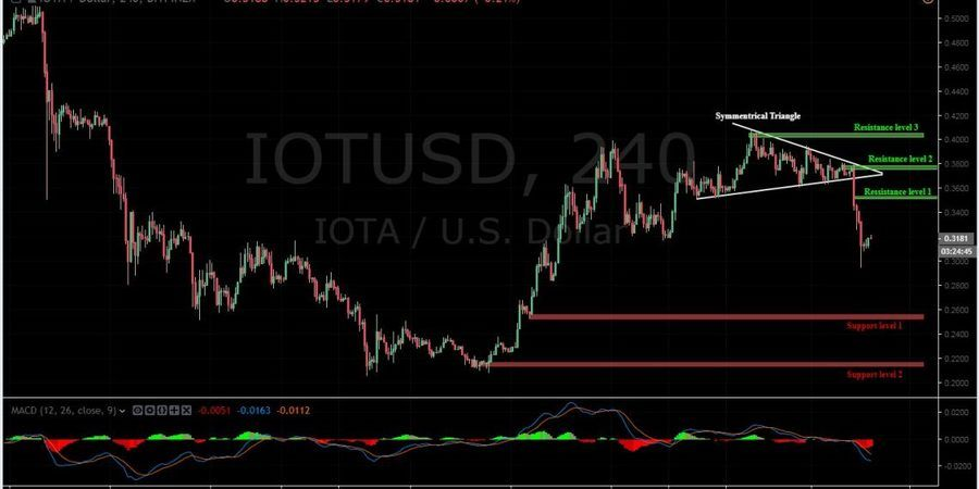 IOTA-USD 4H Chart- January 11
