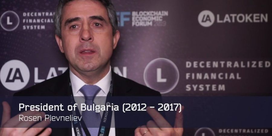 Rosen Plevneliev talk at Blockchain Economic Forum 2019 / Latoken Youtube Screenshot