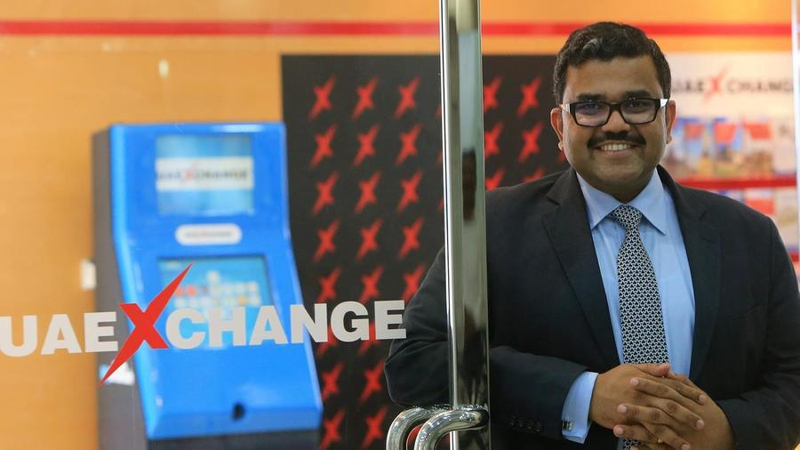 Promoth Manghat, executive director and chief executive of Finablr, expects to grow the company's footprint in cross-border payments using blockchain technology. Ravindranath K / The National