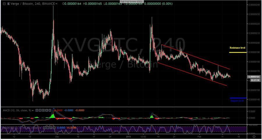 XVG-BTC 4H chart - February 14