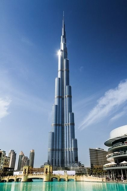 The Burj Khalifa building, Dubai.