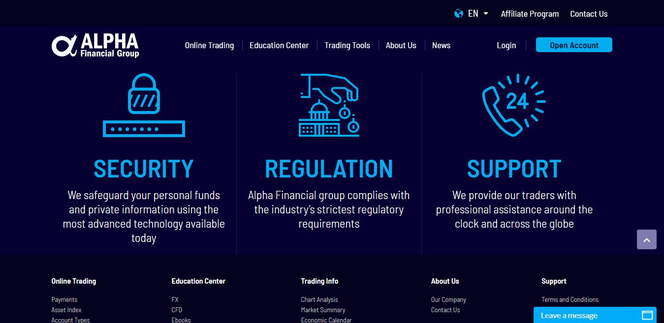Alpha Financial Group Regulation