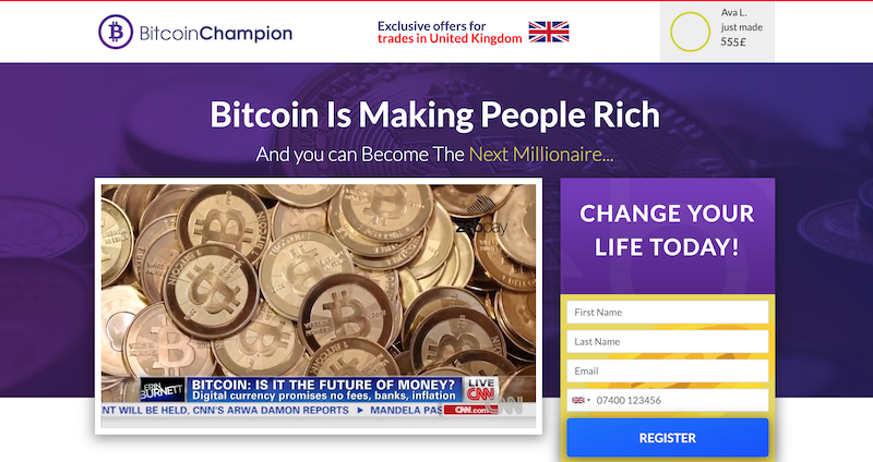 Bitcoin Champion Homepage
