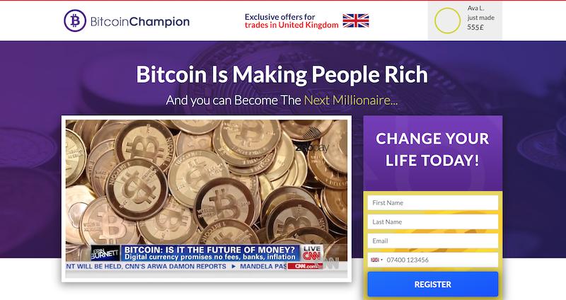 Bitcoin Champion homepage