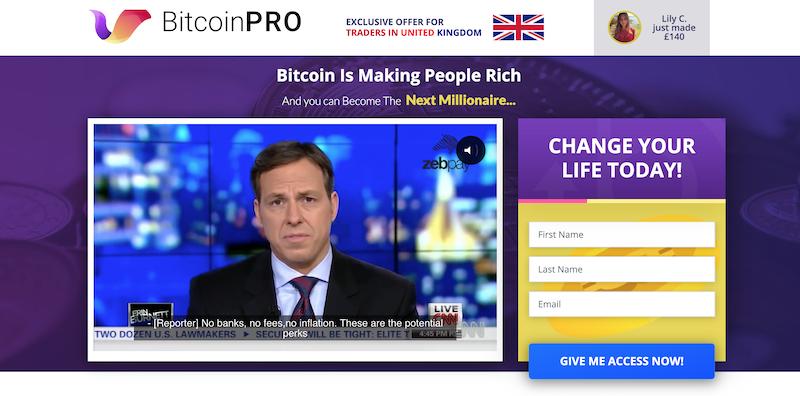 Bitcoin Pro Homepage