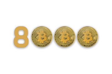 Bitcoin surges past $8,000