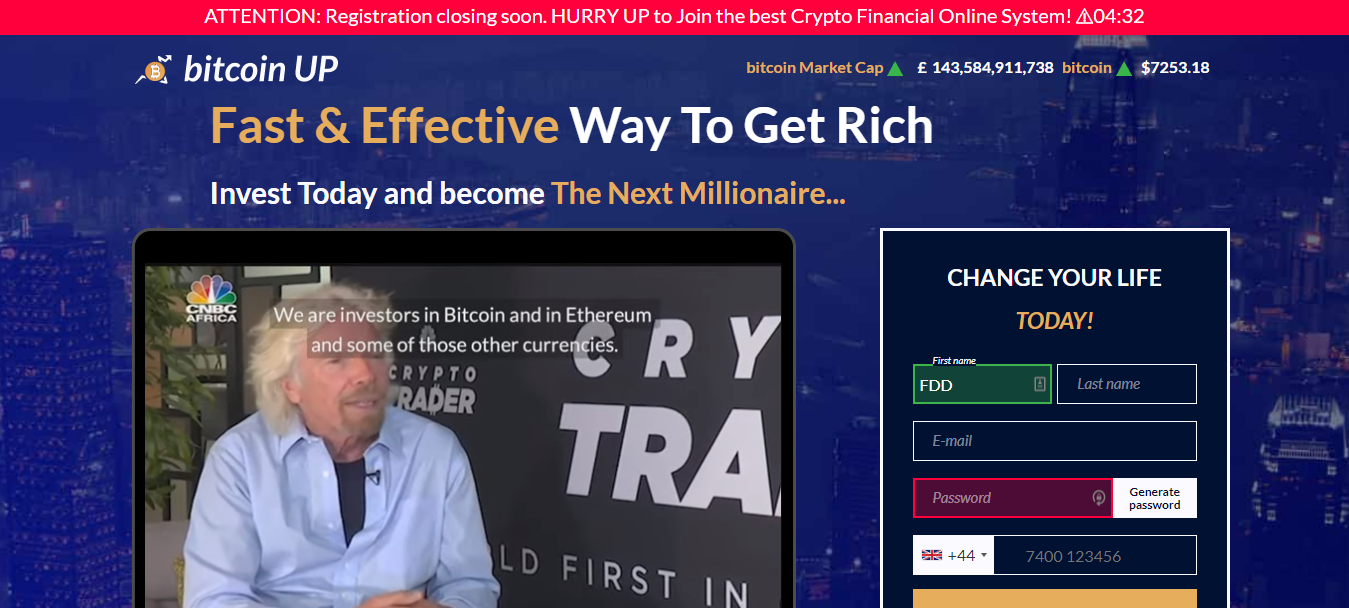 Bitcoin Up Review Is It A Scam Find Out Here Cryptovibes Com Daily Cryptocurrency And Fx News