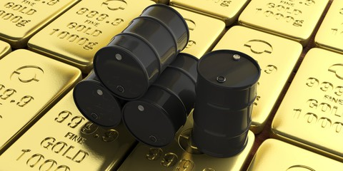 gold undecided as oil prices drop into the negatives