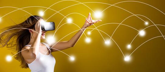 Virtual reality integrates with blockchain