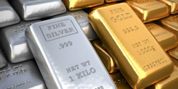 gold and silver may drop in the short term