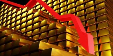 gold lost over 4% on August 11, 2020