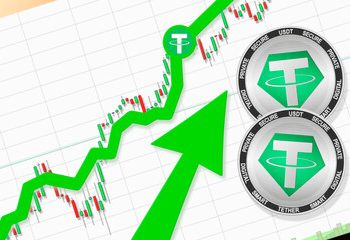 Tether trading volume increasing exponentially