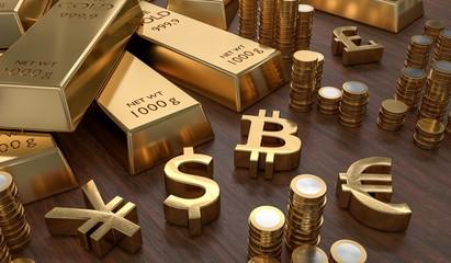 bitcoin may follow gold and stocks downward
