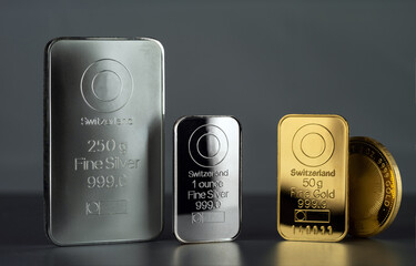 gold and silver markets are dropping amidst an increase in risk-off conditions